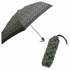 【あす着】コーチ 折りたたみ傘 アウトレット COACH F63365 SLCBK ペイトン シグネチャー ミニアンプレラ ブラックグレー/ブラック