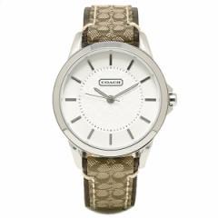 コーチ 時計 レディース  COACH 14501525 ニュー クラシック シグネチャー シルバー/カーキ/マホガニー ウォッチ/腕時計 tem_b