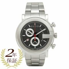 【あす着】グッチ 時計 メンズ 腕時計 GUCCI YA101309 Gラウンド クロノグラフ ステンレス ブラック/シルバー