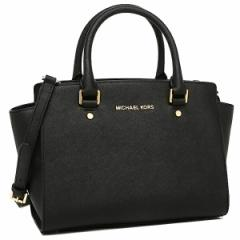 【あす着】マイケルマイケルコース MICHAEL MICHAEL KORS 30S3GLMS2L 001 SELMA MD TZ SATCHEL SAFFIANO LEATHER ショルダーバッグ BLACK