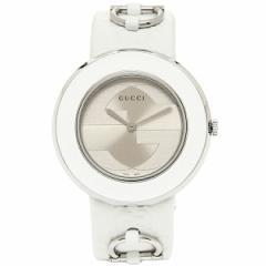 【あす着】GUCCI グッチ YA129419 Uプレイ ホワイト/シルバー レディースウォッチ/腕時計