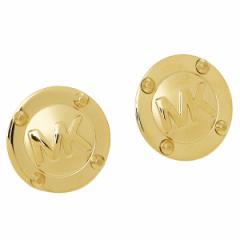 【あす着】マイケルマイケルコース ピアス レディース MICHAEL MICHAEL KORS MKJ1666710 LOGO BUTTON EARRINGS GOLD ゴールド