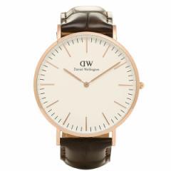 【あす着】ダニエルウェリントン 時計 メンズ/レディース  0111DW ベルト40 CLASSIC クラシック 腕時計 YORK/ROSEGOLD 父の日