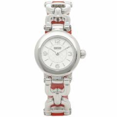 【あす着】コーチ 時計 レディース COACH 14501853 WAVERLY ウェイバリー 腕時計 ウォッチ シルバー/レッド tem_b m_bf