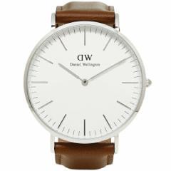 【あす着】ダニエルウェリントン 時計 メンズ Daniel Wellington 0207DW 40mm 腕時計  ST ANDREWS セントアンドリュー/シルバー 父の日