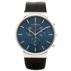 【あす着】スカーゲン 時計 メンズ SKAGEN SKW6105 ANCHER アンカー 腕時計 ウォッチ ブラック/シルバー/ブルー