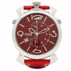 ガガミラノ 時計 メンズ GAGA MILANO 5097.04RD THINCHRONO シンクロノ 46MM 腕時計 ウォッチ レッド/シルバー