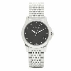 【あす着】GUCCI グッチ YA126505 スモール バージョン Gタイムレス コレクション腕時計 レディース シルバー/ブラックマ/ダイヤモンド