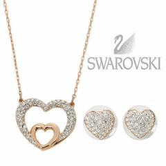 【あす着】スワロフスキー ネックレス SWAROVSKI 5198888 ローズゴールド/クリア