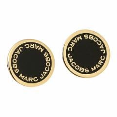 【あす着】マークジェイコブス ピアス MARC JACOBS M0008544 062 LOGO DISC ENAMEL STUDS ブラック/ゴールド