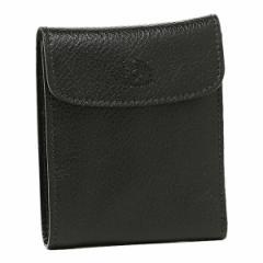 【あす着】イルビゾンテ 財布 IL BISONTE C0976 P 153 メンズ 二つ折り財布 BLACK
