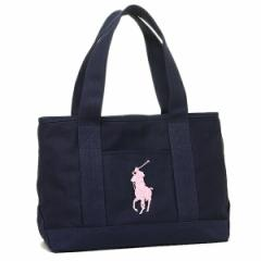 【あす着】ポロ バッグ POLO RALPH LAUREN 950188 SCHOOL TOTE MEDIUM トートバッグ NAVY/BLUSH PINK PP