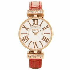 【あす着】フォリフォリ 腕時計 FOLLI FOLLIE WF13B014SSW-RE ピンクゴールド ホワイト レッド