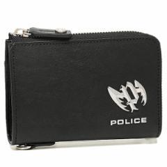 【あす着】ポリス メンズ 二つ折り財布 POLICE PLC123 ブラック