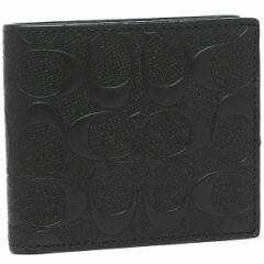 【あす着】コーチ 二つ折り財布 アウトレット COACH F75363 BLK ブラック レディース