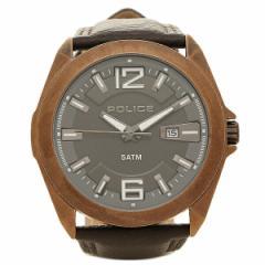 【あす着】ポリス 腕時計 POLICE PL14103 JSQR/61 ブラウン