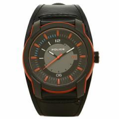 【あす着】ポリス 腕時計 POLICE PL14438 JPOB/13 ブラック オレンジ