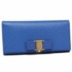 【あす着】フェラガモ 長財布 レディース Salvatore Ferragamo 22A900 643536 ブルー