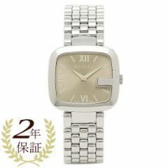 【あす着】グッチ 腕時計 GUCCI YA125410 シルバー ブラウン レディース