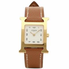 【あす着】エルメス 腕時計 HERMES HH1.201.131/UGO W036732WW00 ブラウン ホワイト イエローゴールド