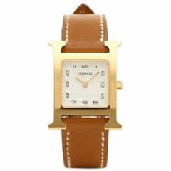 【あす着】エルメス 腕時計 HERMES HH1.201.131/VBA W036734WW00 ブラウン ホワイト イエローゴールド
