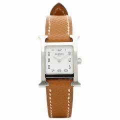 【あす着】エルメス 腕時計 HERMES HH1.110.131/UGO W037875WW00 ブラウン ホワイト シルバー