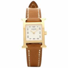 【あす着】エルメス 腕時計 HERMES HH1.101.131/VBA W037963WW00 ブラウン ホワイト イエローゴールド