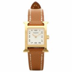 【あす着】エルメス 腕時計 HERMES HH1.101.131/UGO1 W039350WW00 ブラウン ホワイト イエローゴールド
