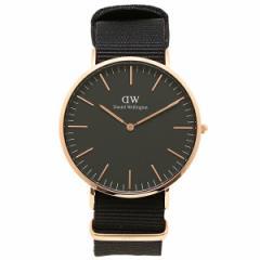 【あす着】ダニエルウェリントン 腕時計 Daniel Wellington DW00100148 ブラック/ローズゴールド