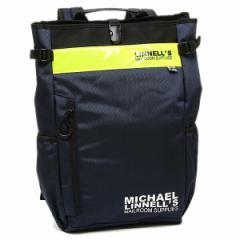 マイケルリンネル リュック MICHAEL LINNELL ML-019 ネイビー イエロー