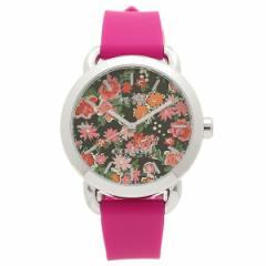 【あす着】コーチ 腕時計 アウトレット COACH W6215 PIN ブラックマルチ シルバー ピンク レディース