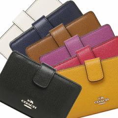 【あす着】COACH 財布 アウトレット コーチ F54010 クロスグレイン ミディアム コーナー ジップウォレット 二つ折り財布