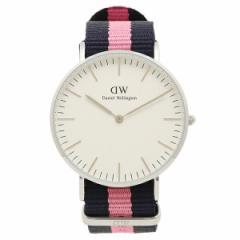 Daniel Wellington 腕時計 メンズ レディース ダニエルウェリントン DW00100049 ホワイト シルバー ネイビー ピンク