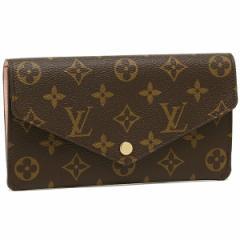 【あす着】ルイヴィトン 長財布 レディース LOUIS VUITTON M62203 ブラウン ライトピンク