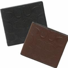 【あす着】コーチ 折財布 アウトレット メンズ COACH F75363
