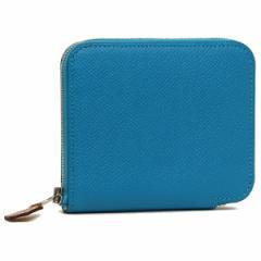 【あす着】エルメス 折財布 レディース HERMES H071905CK AD ブルー マルチ