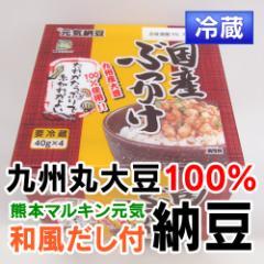 熊本産  納豆  和風だし付き 九州産大豆100%使用  1個(4パック入) 【 野菜セット と同梱で送料無料 】【 九州 熊本 納豆  】