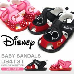 【送料無料】Disney ディズニー ベビーサンダル キッズ 全2色 DS4131 ミッキーマウス ミニーマウス 笛付きサンダル 軽量