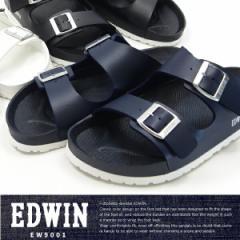 【送料無料】EDWIN エドウィン コンフォートサンダル メンズ 全3色 EW9001 フットベットサンダル 水濡れ カジュアル 夏 サマーサンダル