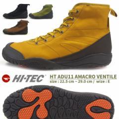 【送料無料】HI-TEC ハイテック ハイカットレインスニーカー メンズ レディース 全2色 HT ADU11 AMACRO VENTILE 防水設計 アウトドア