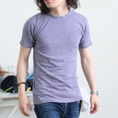 [メール便]Tシャツ/シンプル無地コットン混クルーネック半袖Tシャツ/メンズ vani0009