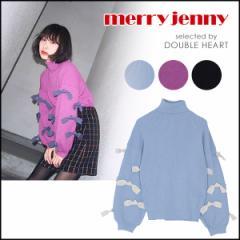 merry jenny メリージェニー タートルリボンニット トップス レディース ニット タートル リボン ボリュームスリーブ
