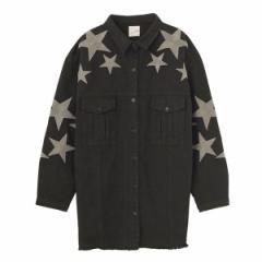 フローヴ FLOVE 刺繍ビックミリタリージャケット ミリタリージャケット ジャケット 春 レディース アウター 春アウター 羽織り