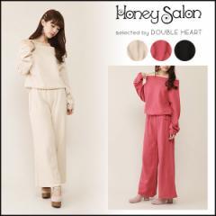 ハニーサロン Honey Salon オフショルニットオールインワン レディース オールインワン コンビネゾン ニット FHW-0741