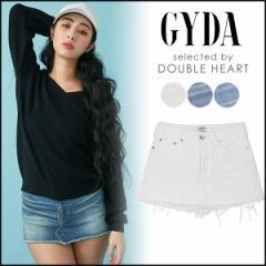 ジェイダ GYDA スカートライクショーパン レディース デニム スカート パンツ ショートパンツ ショーパン スカパン ミニ