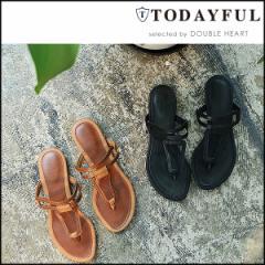 TODAYFUL トゥデイフル LIFEs ライフズ 通販 7月下旬予約 Flat Sandals フラット サンダル フラットサンダル 吉田怜香 11711080