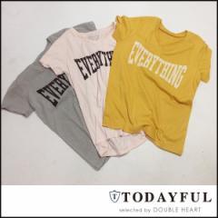 TODAYFUL トゥデイフル LIFEs ライフズ 通販 2月下旬予約 EVERYTHING Tee エヴリシングTee トップス レディース Tシャツ 半袖 ロゴ