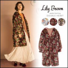 レディース ジャガードファーコート  アウター コート ファーコート ファー LWFC174039 リリーブラウン Lily Brown