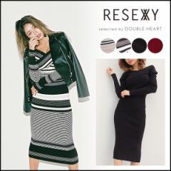 リゼクシー RESEXXY 公式通販 クロスオフショルミディワンピース レディース ワンピース ニットワンピース ミディアム丈