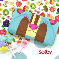 イーザッカ|Solby|畳んでも可愛い、くまさん&お花のおむつ替えマット♪/ポケッタブルデザイン/おむつ替えシート[いたずらフタップ]